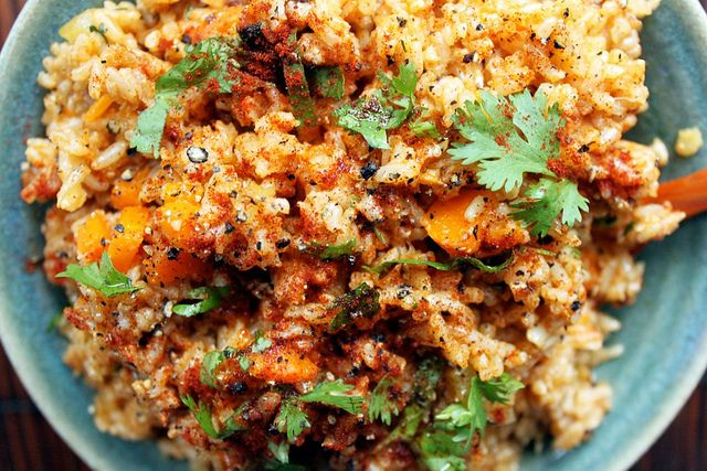 Paprika Rice. Be sure to use any kind of rice other than white rice to make this recipe anti-candida diet friendly.