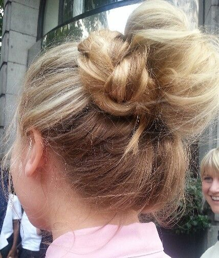 Francesca Amato- hair updo finished with a simple plait