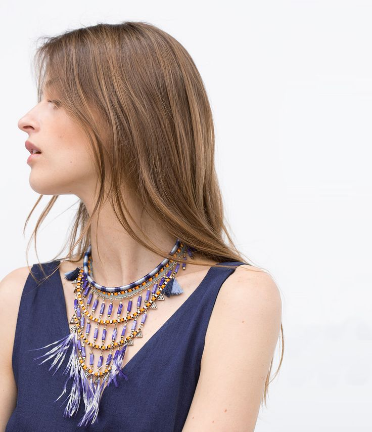 Stones and feathers necklace-Woman-NEW THIS WEEK | ZARA United States