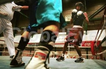 Boxing. D C Hancock. A round of boxing at Marrara Stadium  during the Australian titles. Photographer: David Hancock   Copyright: SkyScans 172027. Stock Photo By David C Hancock