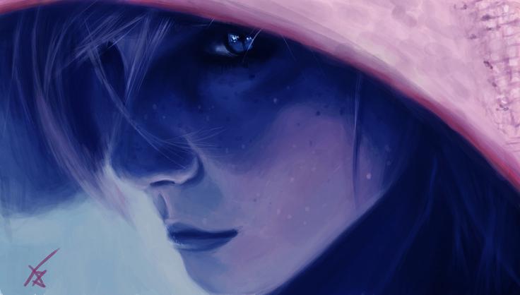 Painting-digital  - Girl at the hood    by Adilas