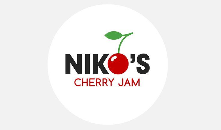 Logosuunnittelu, logo, yritysilme. Niko's Cherry Jam - Logosuunnittelu Ilkka Janatuinen