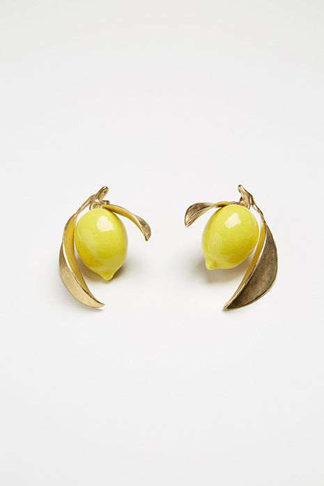 Photo via Andres Gallardo, lemon earrings. #enamel #earrings #jewelry #lemons