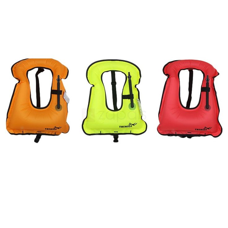 THENICE Portable Inflatable Life Jacket Snorkel Vest for Adults Kids