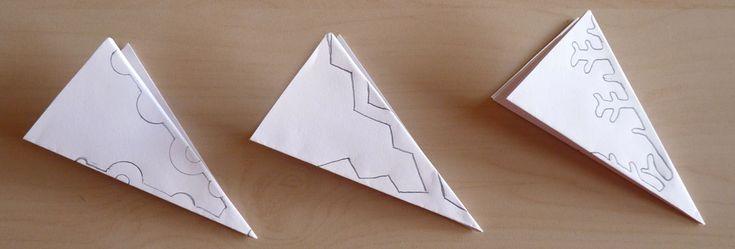 modèles grands flocons en papier