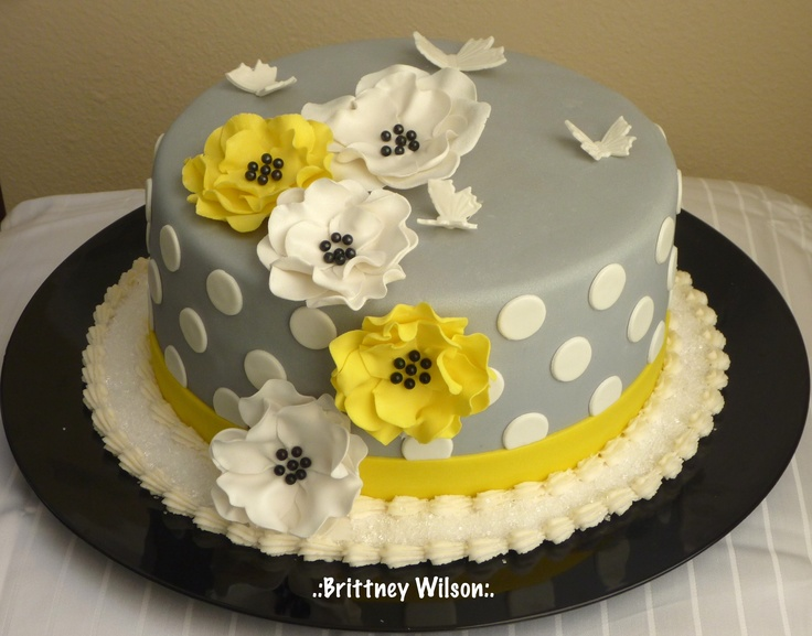 19 Best Images About Yellow And Gray Party Ideas On Pinterest