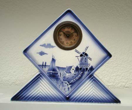 Elsterwerda art deco ceramic clocks