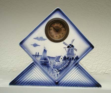 Elsterwerda art deco ceramic clocks