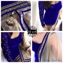 Exclusive Blue Emboridered Designer Straight Suit - Salwar Sui