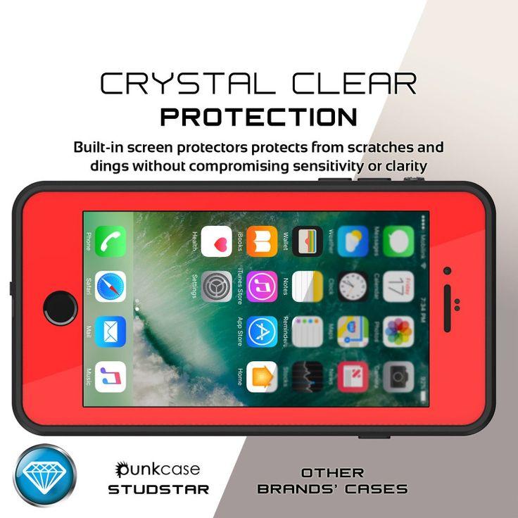 iPhone 7+ Plus Waterproof Case, Punkcase [Red] [StudStar Series] [Slim Fit] [IP6…