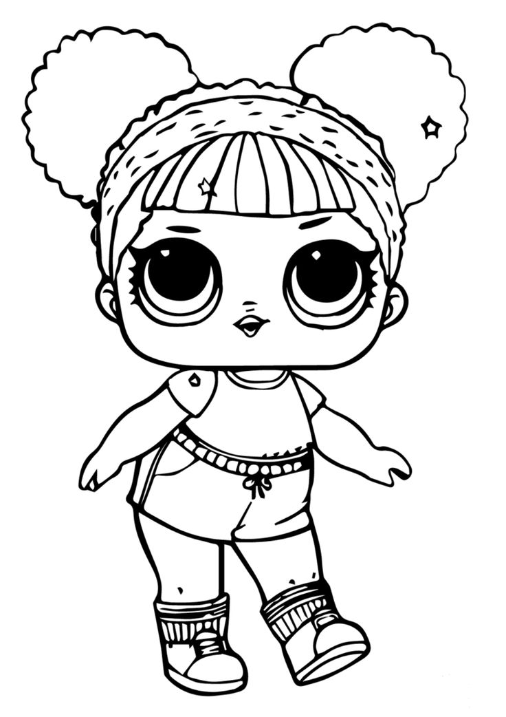 Printable Lol Doll Coloring Pages Hoops MVP Glitter Lol