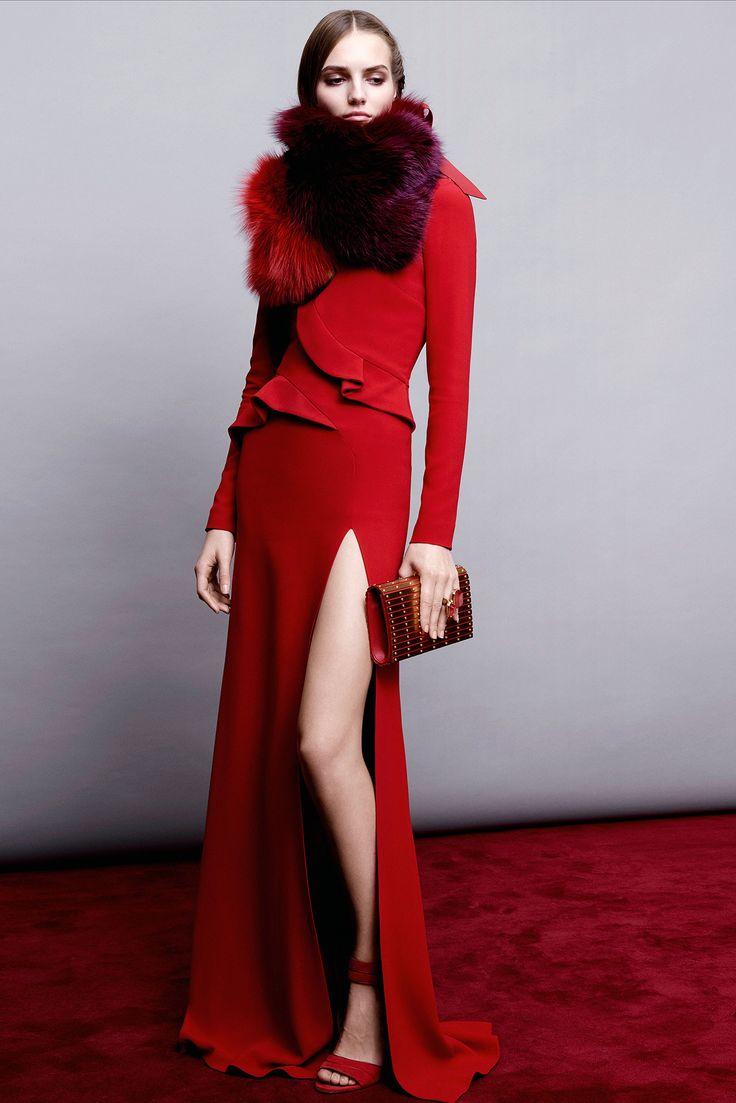 Elie-Saab PreFall-2015 red dress