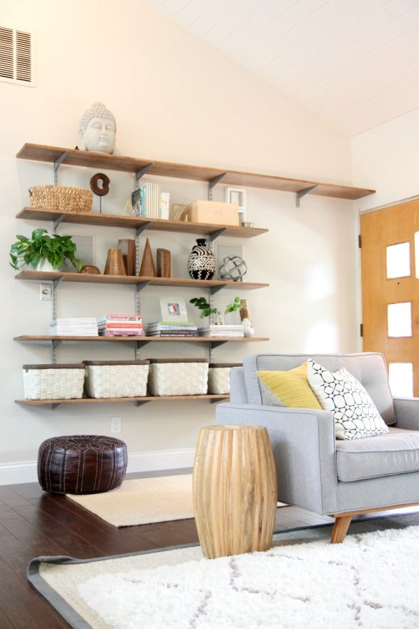 Make and style your own floating shelves
