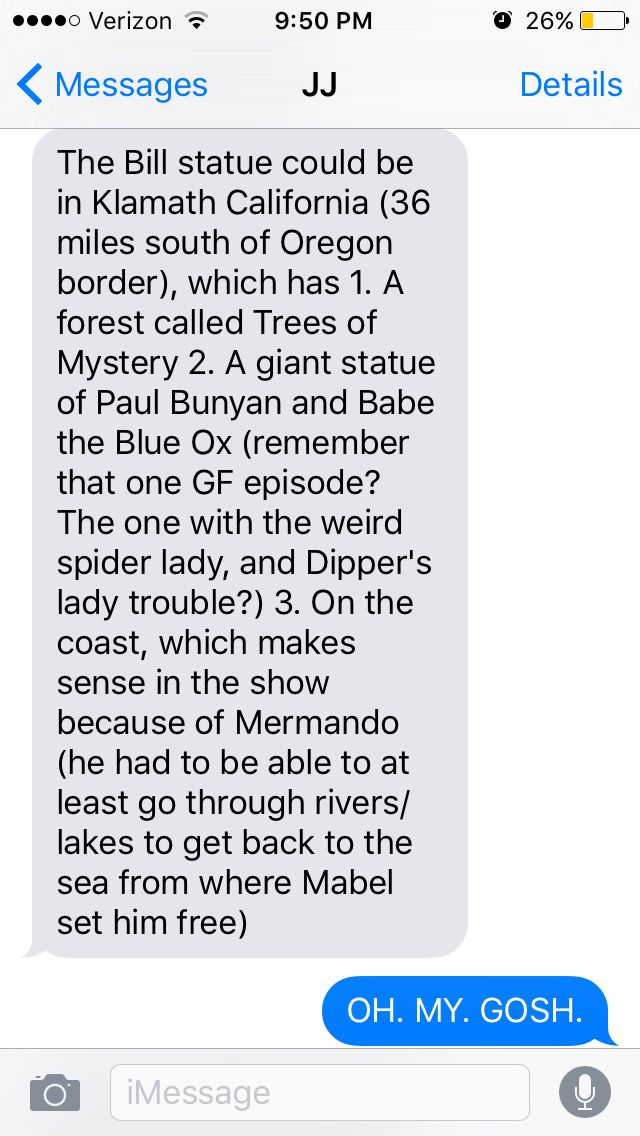 My friend's theory on the Bill statue. Spread the theories my brothers and sisters of Gravity Falls!