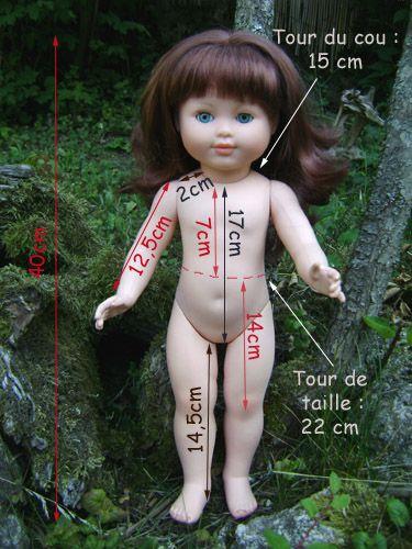 mensurations poupee 38/42 cm
