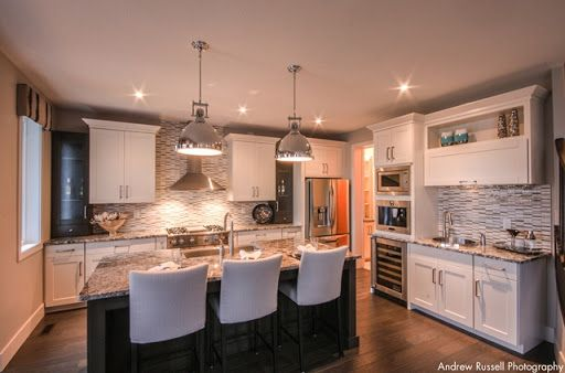 Lovely kitchen with large island