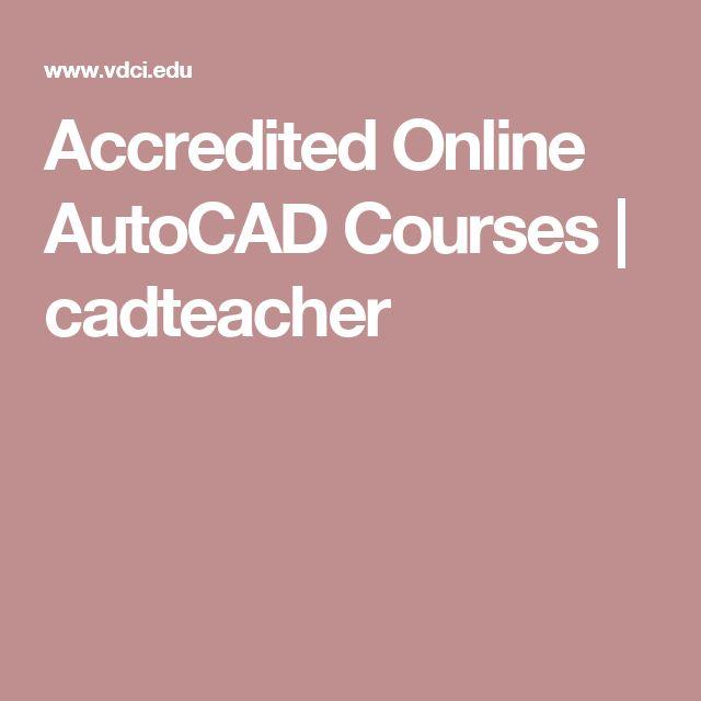 Accredited Online AutoCAD Courses | cadteacher