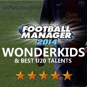 Ultimate list of best Football Manager 2014 Wonderkids created by Passion4FM for FM14.  Discover over 400 U20 talents - and download the massive shortlist!  http://www.mypassion4footballmanager.com/2013/10/football-manager-2014-wonderkids.html