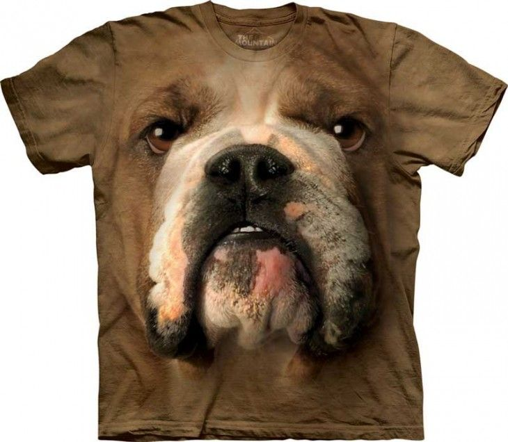 The Mountain Bulldog Face Tshirt   cool shirts, they look 3-d