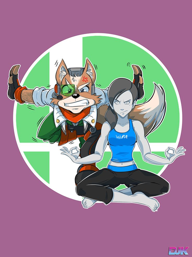 Fox McCloud and Wii Fit Trainer trying some yoga - Imgur