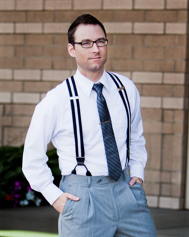 Mens Button Suspenders. Every man should have a one!
