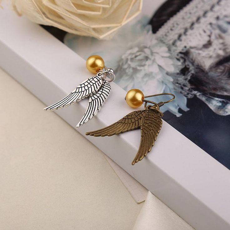Гарри Поттер Серьги Золотые Серьги Вставить Ник Античные Bronzesilver Крылья Для Женщин Ювелирные