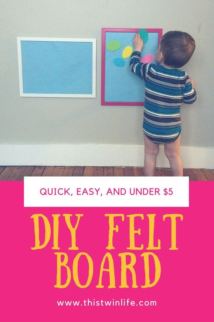DIY Felt Board: Quick, Easy, and Under $5 with this Ikea hack.