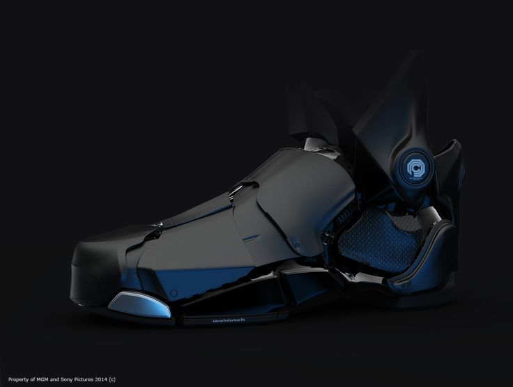 Cyborg or android foot design. Can this be translated for bigger mech designs without looking too tacky?