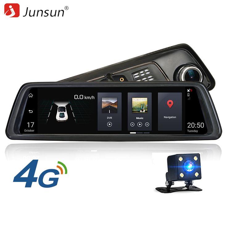 Junsun K759 ADAS Car DVRs 4G 10Inch Android 5.1 Rearview Mirror //Price: $2015.16 & FREE Shipping //     #dashcam