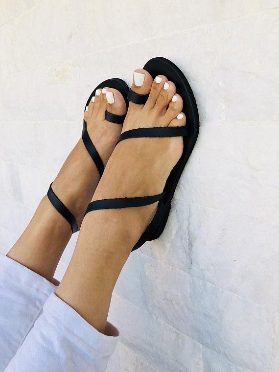 quality products good selling recognized brands Black Gladiator Sandals, Leather Sandals, Greek Sandals, Black ...