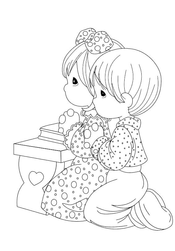 ... pinned from site directly~~ . . . Pray Precious Moments Coloring Pages