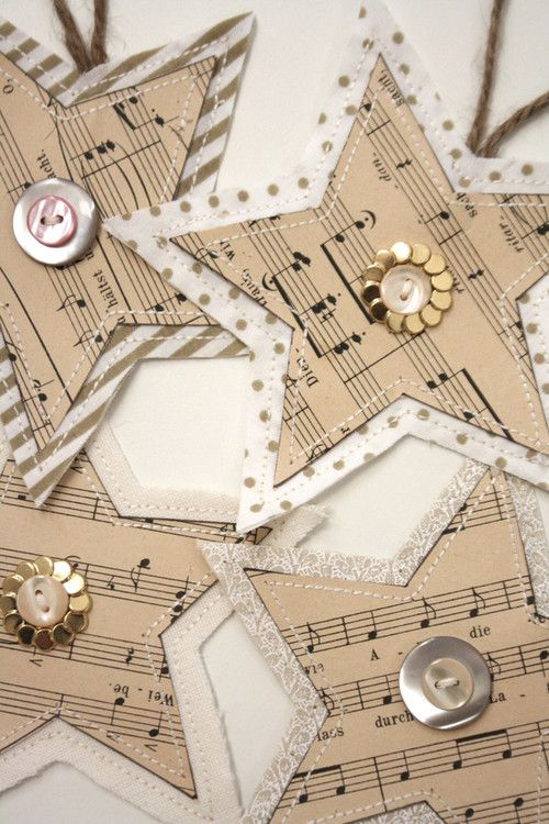 Lovely hand-crafted paper Christmas decorations