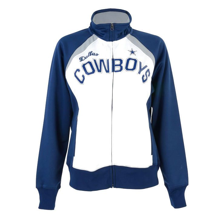 Dallas Cowboys G-III Sports by Carl Banks Women's Coin Toss Full-Zip Track Jacket - White/Navy - $59.99