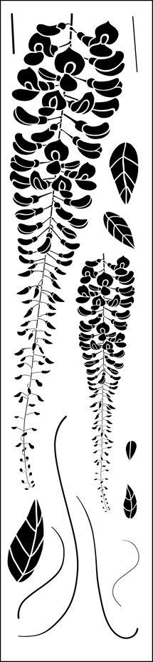Click to see the actual LTL11-L - Wisteria stencil design.