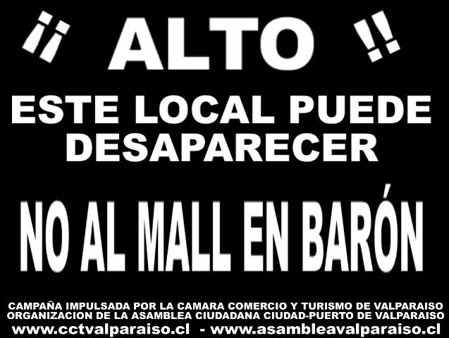 """Afiche """"No al mall en Barón"""""""