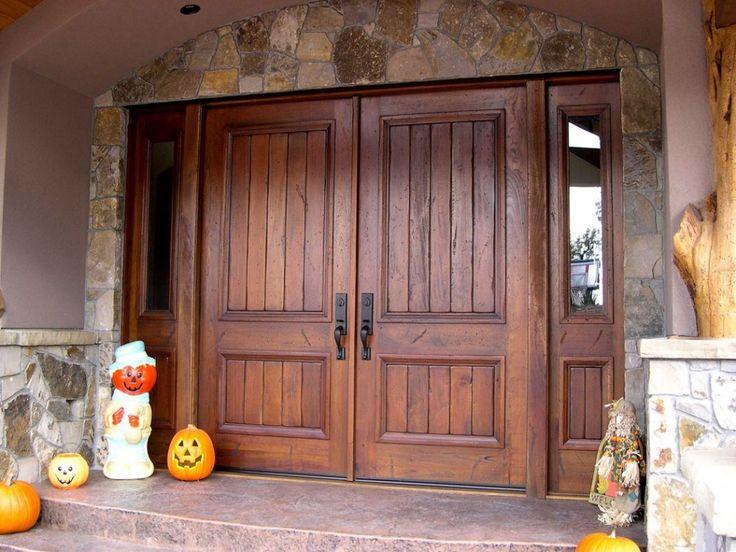 Entry Double Door Designs custom mahogany double door entry Double Rustic Exterior Entrance Door