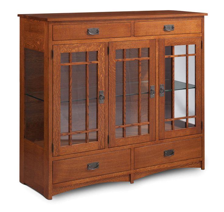 Prairie Миссия 3-дверные Особенности кабинета Стеклянные двери и заканчивается с амишей мебели Просто