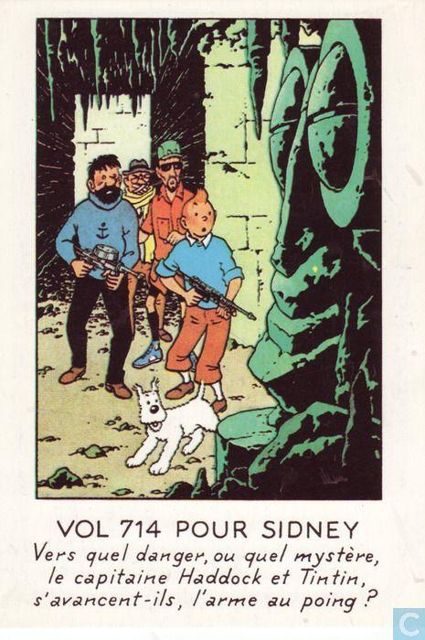 Carte postale - Tintin - Vol 714 pour Sydney Australia • Flight 714 • Tintin, Herge j'aime