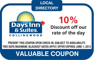 Days Inn & Suites 10% Discount off our rate of the day