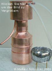 Wasserdampfdestillation aetherischer Öle