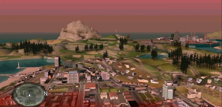 Grand Theft Auto: San Andreas without draw distance fog.