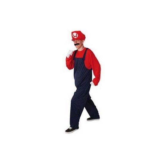 Super mooi loodgieter kostuum  Loodgieter kostuum rood. Volwassenen kostuum loodgieter Mario in de kleur rood. Dit kostuum is inclusief shirt overall en pet met de letter W. De maat is Large.  EUR 29.95  Meer informatie