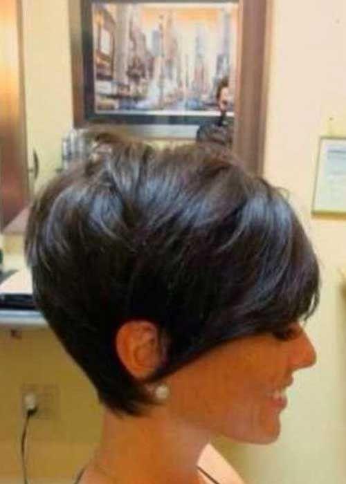 Brunette Pixie Cut Short Haircuts