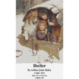 Counted Cross Stitch Set -Shelter by Arthur John Elsley