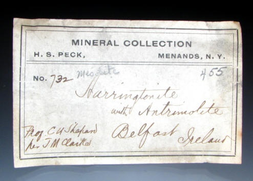 mineral collection label