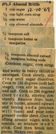 Almond Brittle :: Historic Recipe