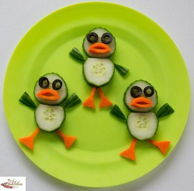 Fun food art Dancing Ducks - Fun, healthy, creative food for kids big and small