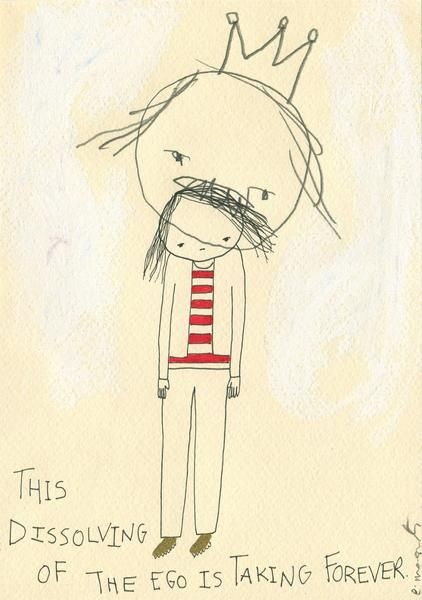 """""""This Dissolving Of The Ego Is Taking Forever' By Emma Magenta  #art #illustration #drawing"""