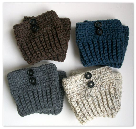 Womens Boot Socks With Buttons In Denim, Brown, Cream, Or Grey  Boot Cuffs