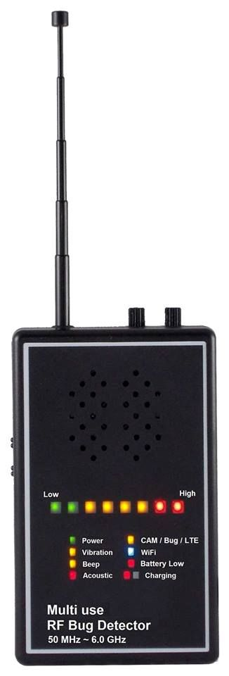 Multi use RF GSM / 3G / 4G / Camera / WiFi / Phone / GPS Bug Detector    For more details, you may contact, Worldwide Technologies, Bug Detector Supplier in India at www.wtpl.co.in
